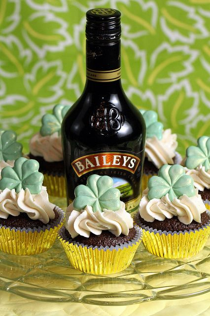 Chocolate Guinness Cupcakes with Bailey's Irish Buttercream Frosting
