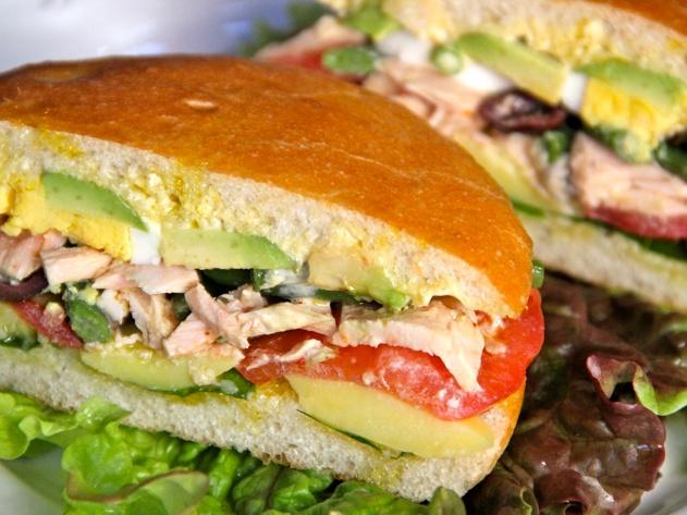Pan-Bagnat: Niçoise Tuna Sandwich | Recipes | Pinterest