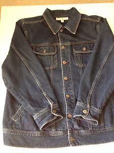 Tommy Hilfiger Women s Dark Blue Denim Jean Jacket Plus Size 2X Find
