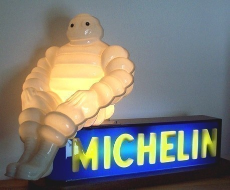 Bibendum Michelin enseigne lumineuse 1955. - 1350€ !!!