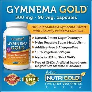 Gymnema GOLD, 500mg, 90 veggie capsules (Gurmar Sugar Destroyer) (#1 Gymnema Sylvestre Leaf Extract) (Health and Beauty)