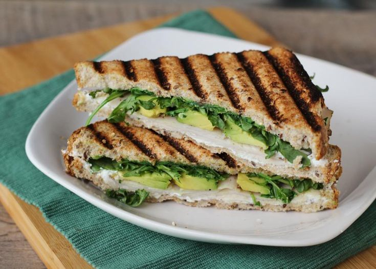 Turkey, Avocado, & Goat Cheese Panini -- Served on a hawaiian bun and ...