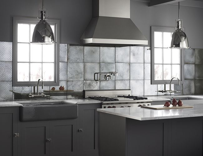 Ann Sacks Glass Tile Backsplash Minimalist Classy Design Ideas