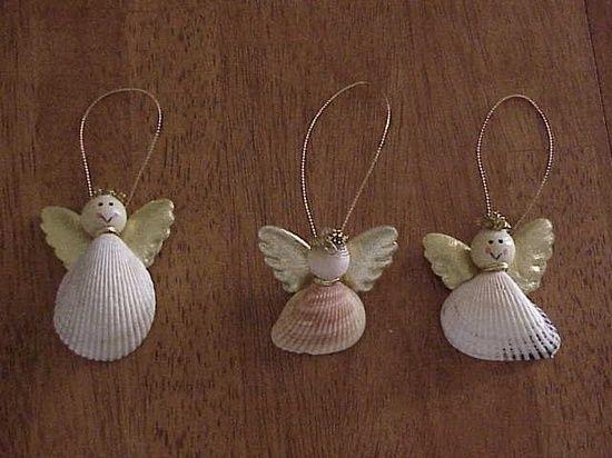 Seashell angels craft ideas pinterest for Seashell ornaments craft