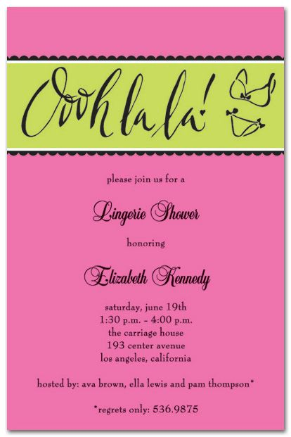 Lingerie Shower Invitation Wording 5