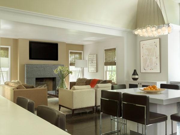 Contemporary interior design fireplace