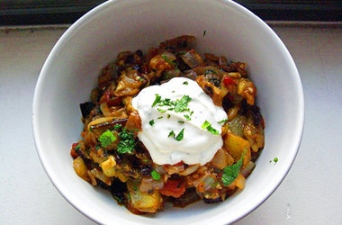 Spiced Eggplant Salad — Punchfork | Recipes {and such} | Pinterest