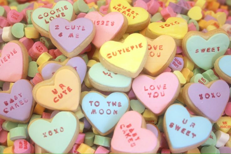 Conversation Heart Cookies | Be My Valentine | Pinterest