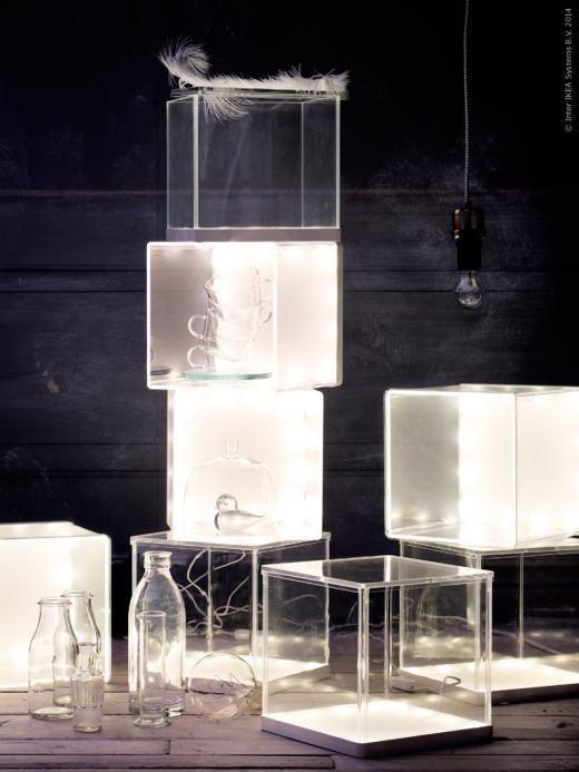 Synas led display box ikea lighting iluminacion for Ikea display box
