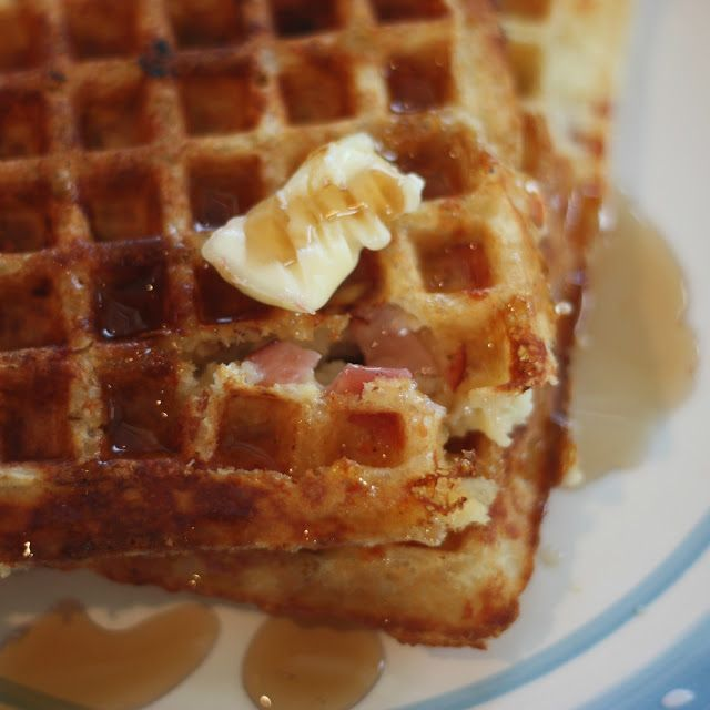 Ham and Cheese Waffles | Food | Pinterest