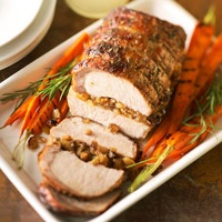 Pork Loin Stuffed with Dried Fruit and Gorgonzola | Recipe