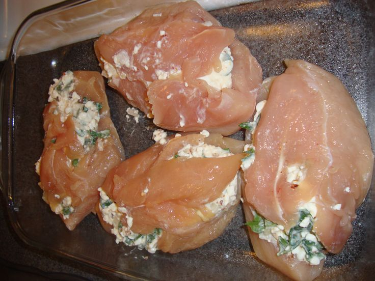 Cottage cheese stuffed chicken breast | Oh-So-Good Chicken | Pinterest