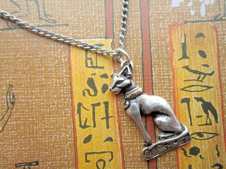 Bast/Bastet cat goddess necklace | Egyptian themes | Pinterest