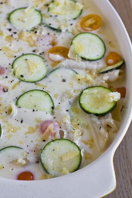 ... and China: Mahon Macaroni and Cheese with Zucchini and Chili Oil