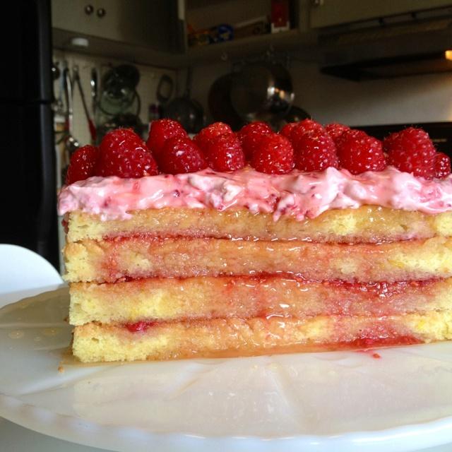 Raspberry opera cake | Mmmm- Food and Drink | Pinterest