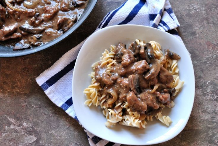 Steak & Portobello Mushroom Stroganoff http://www.delightglutenfree ...