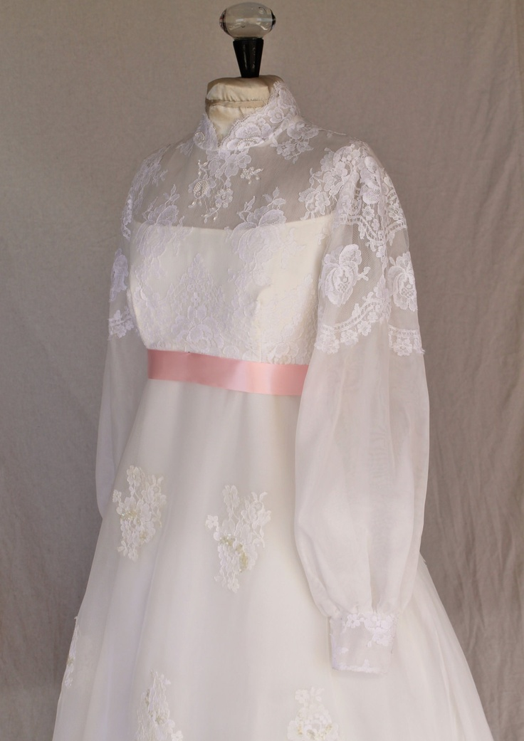 1960s wedding gowns long and elegant empire 1960s wedding dress by