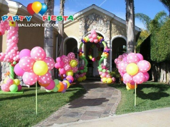 Balloon decoration funny pinterest for Balloon decoration for first birthday