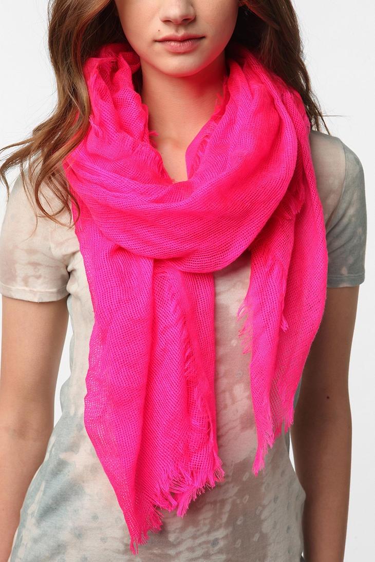 neon scarf neon