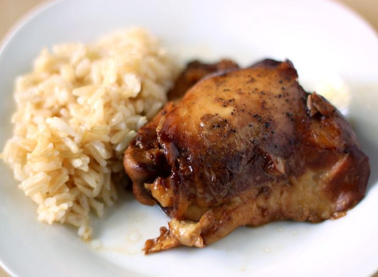 Slow cooker chicken adobo with rice...this was just ok. Used brocolli ...