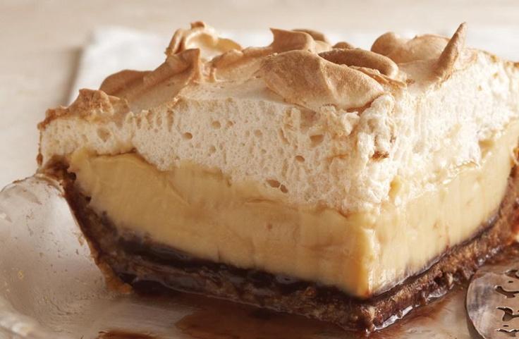 Brown-Bottom Butterscotch Cashew Cream Pie | desserts | Pinterest