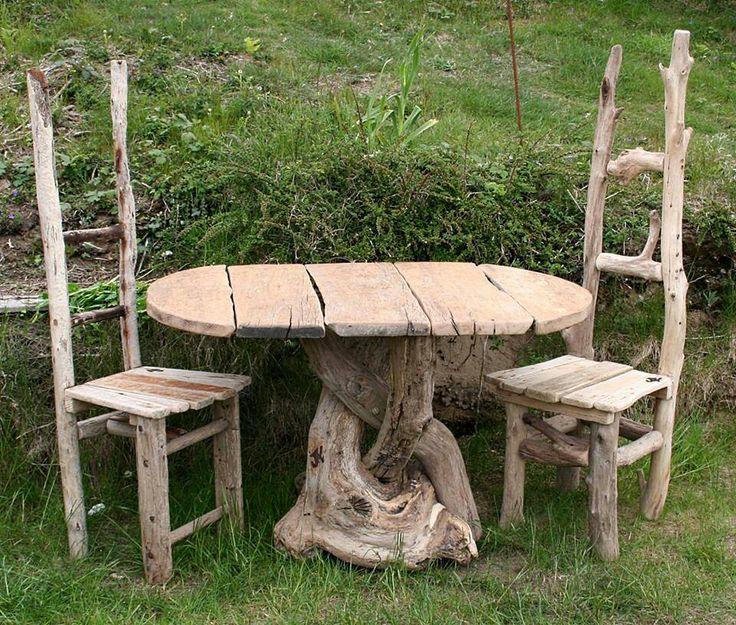 Driftwood furniture  Ideas  Pinterest