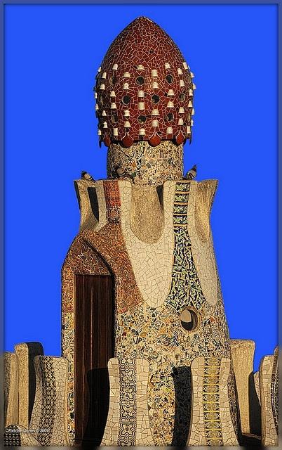 Gaudi Gatehouse, Parc Guell, Barcelona