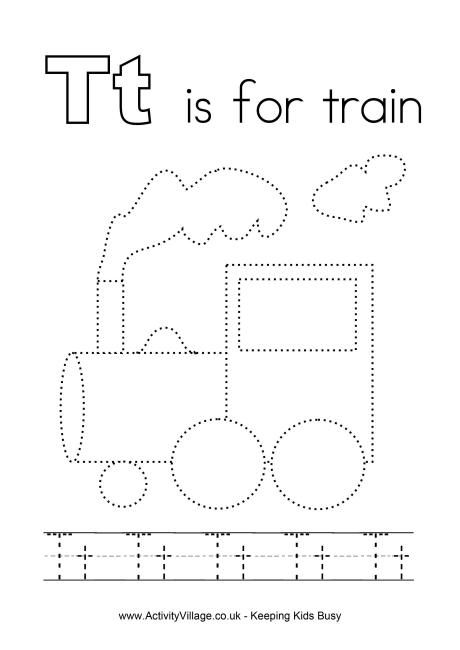 Tracing alphabet t smart kids printables