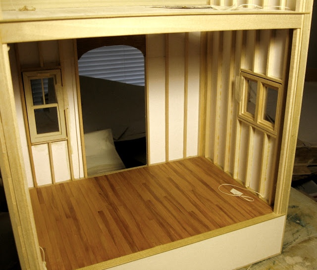 Mike's Miniatures- Stick built dollhouse.