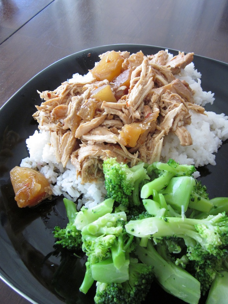 Hawiian Pineapple Chicken (Crock Pot) | Meals on wheels | Pinterest