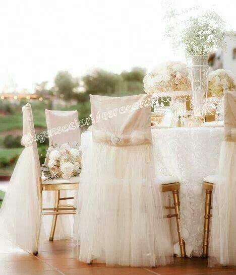 Wedding head table diy chair covers fishing village pinterest