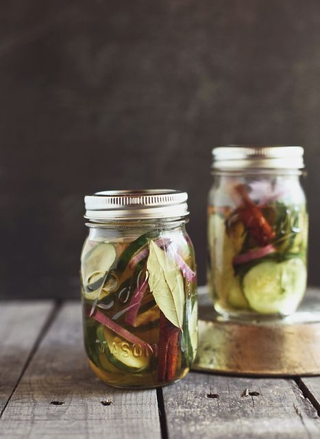Quick sweet pickles.