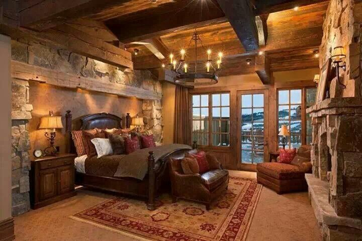 Master Cabin Bedroom Vacation Cabin Home Pinterest