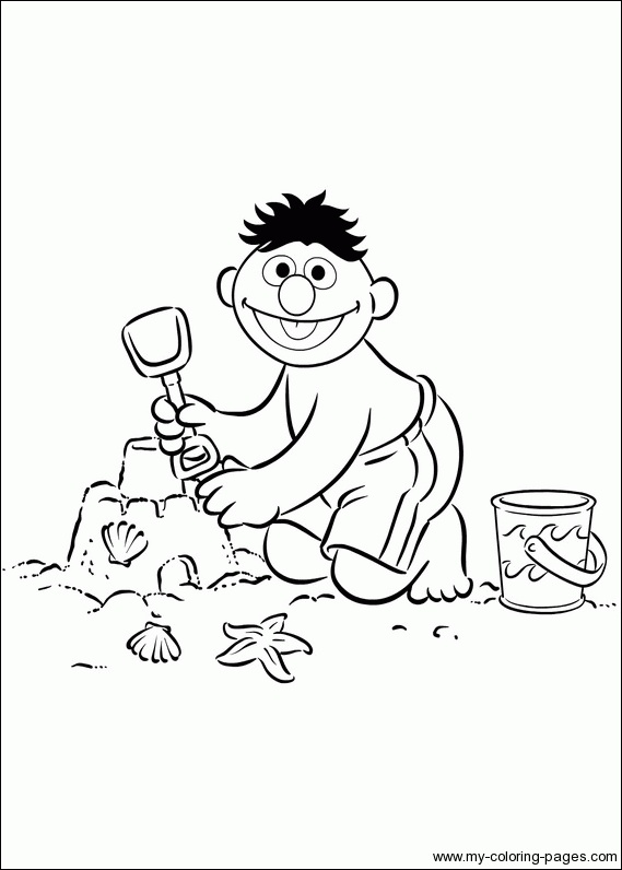 bert and ernie coloring pages - photo#24