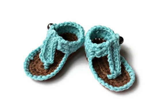 Crochet Baby Shoes Sandals for Newborn by CastAwayCollection, $25.00