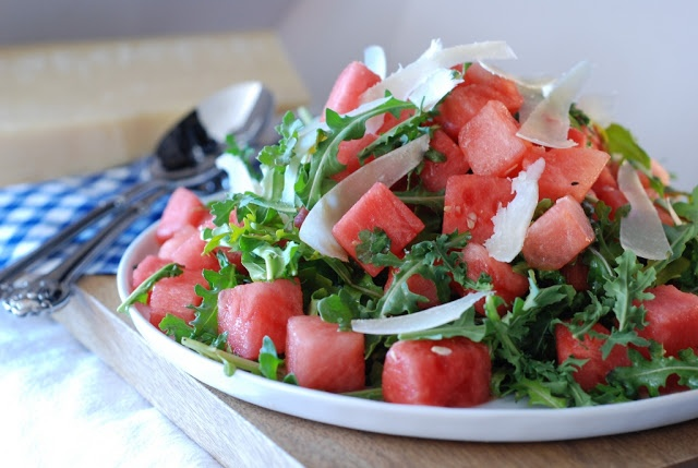 watermelon arugula salad | New Recipes | Pinterest