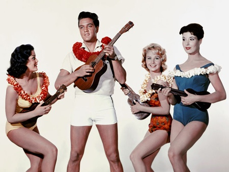 elvis playing the ukulele