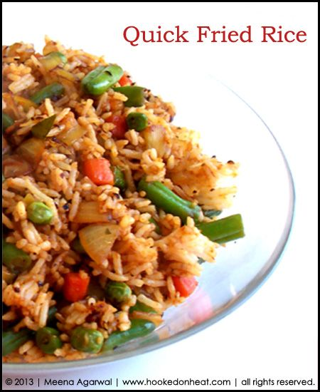 Day in the Life: Quick Fried Rice » Hooked on Heat » Indian ...