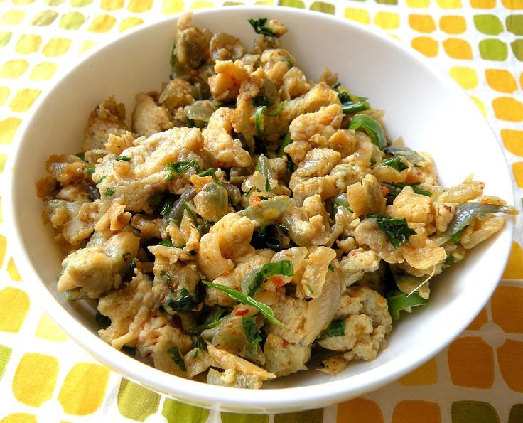Anda Bhurji - Indian style scrambled eggs