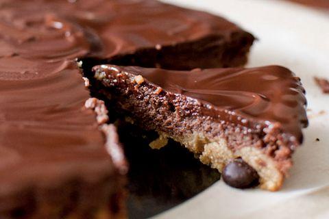 Chocolate Chip Nutella Cheesecake Dark Chocolate Ganache Pie