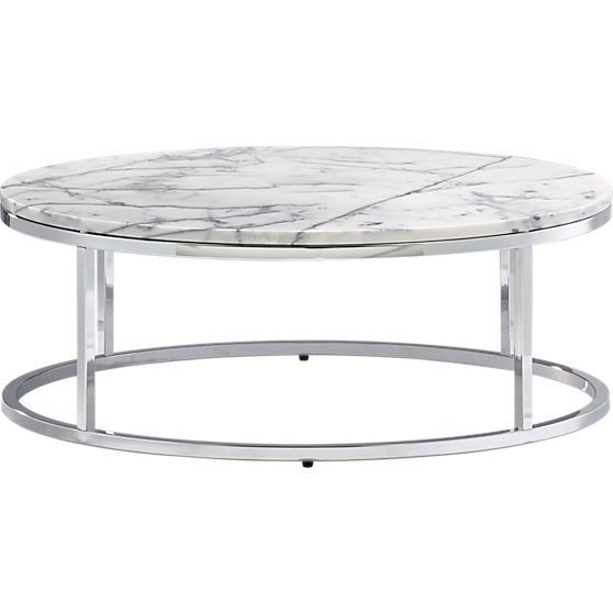 Smart round marble top coffee table Round marble coffee tables