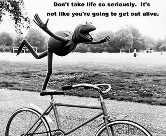 Don't take life too seriously. It's not like you're going to get out alive. #inspirational #quote #life