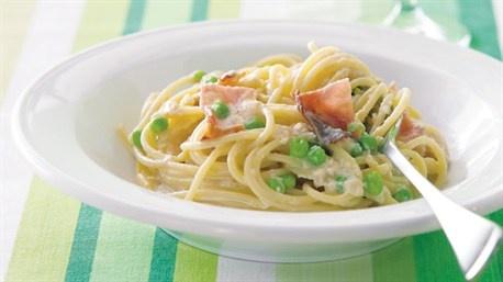 Low-fat pasta carbonara | Recipe