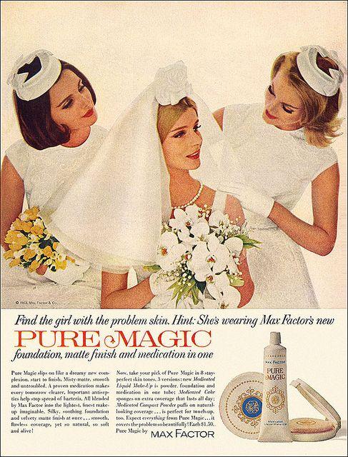 Max Factor Cosmetics Ad  1963Vintage Valium Advertisements