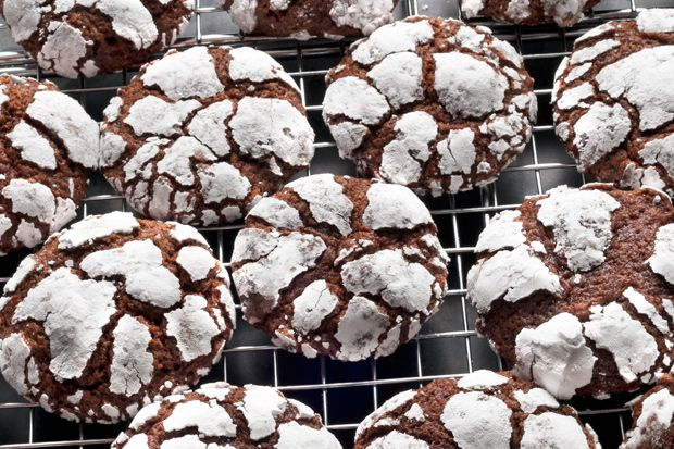 ... these yummy treats for your office potluck. Chocolate Crinkle Cookies