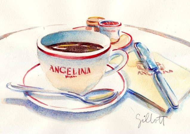 Angelina Hot chocolate by Carol Gillott