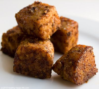 Maple Chipolte Tempeh Croutons #vegan | recipes/food 1 | Pinterest