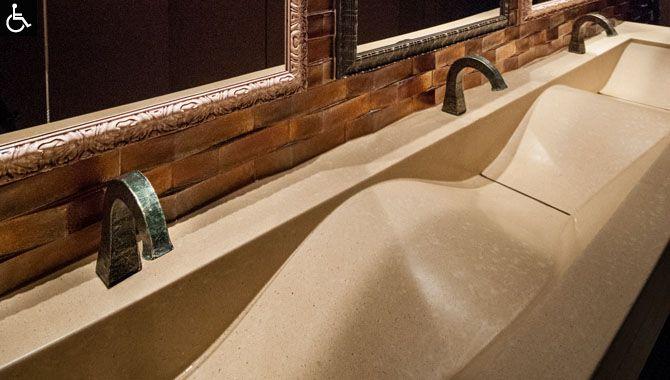 public bathroom sink Interior Spaces/Design Pinterest