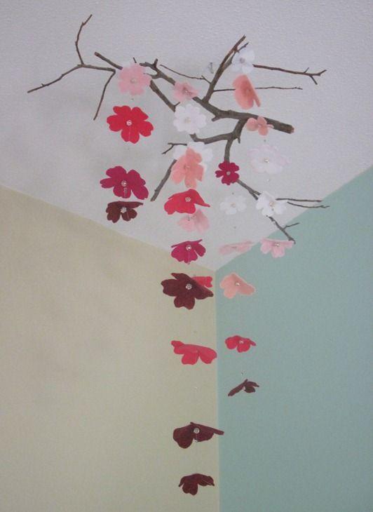 Falling Flowers Crib Mobile