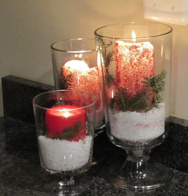 Diy glitter candle decoration christmas candle decor for Decoration candles